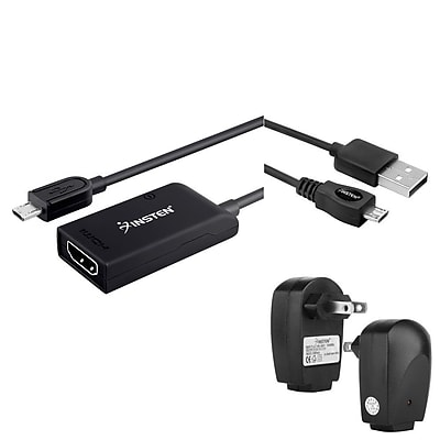 Insten Micro USB to HDMI Adapter + AC Charger + 6FT Cable For Samsung Galaxy S III / S IV i9500 / SV S5 / Note III