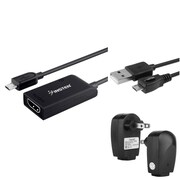 Insten Micro USB to HDMI MHL Adapter + AC Charger + 10FT Cable For Samsung Galaxy S III / S IV i9500 / S5 / Note 3