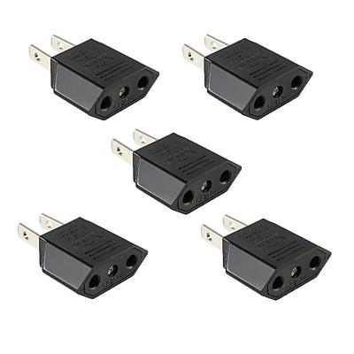 Insten 5pcs European Euro EU to US USA Travel Charger Adapter Plug