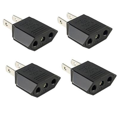 Insten 4 Packs Euro EU to US USA Travel Power Adapter Converter Wall Plug