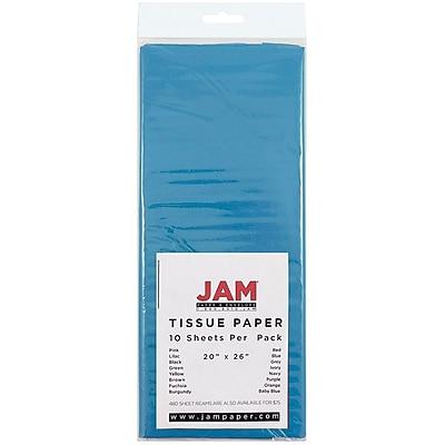 JAM Paper® Tissue Paper, Bright Blue, 10/Pack (1152346)