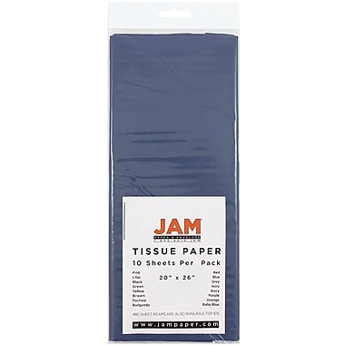 JAM Paper® Tissue Paper, Navy Blue, 10/Pack (1152353)