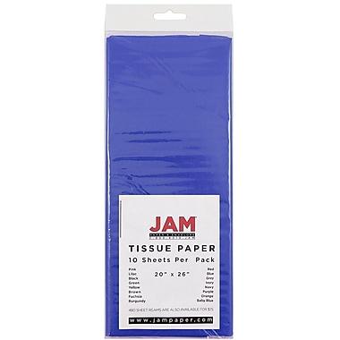 JAM Paper® Tissue Paper, Presidential Blue, 10/Pack (1152354)