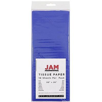 JAM Paper® Tissue Paper, Presidential Blue, 10/Pack