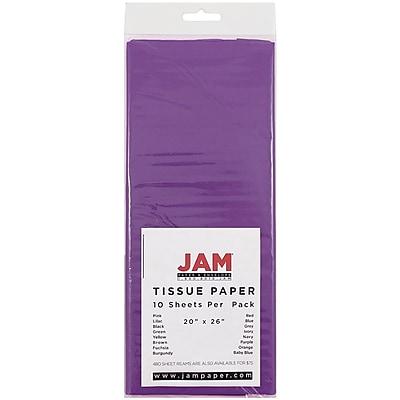 JAM Paper® Tissue Paper, Purple, 10/pack (1152355)