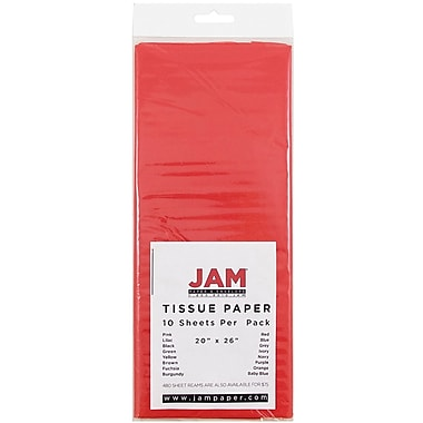 JAM Paper® Tissue Paper, Red, 10/Pack (1152356)