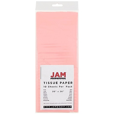 JAM Paper® Tissue Paper, Pink, 10/Pack (1152360)