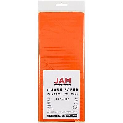 JAM Paper® Tissue Paper, Orange, 10/Pack (1152361)