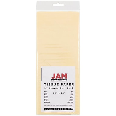 JAM Paper® Tissue Paper, Ivory, 10/Pack (1155677)