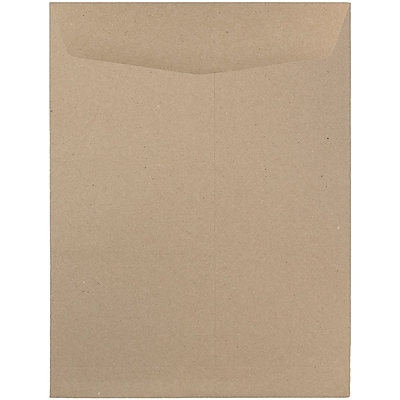 JAM Paper® 9 x 12 Open End Catalog Envelopes, Brown Kraft Paper Bag Recycled, 10/pack (6315446B)