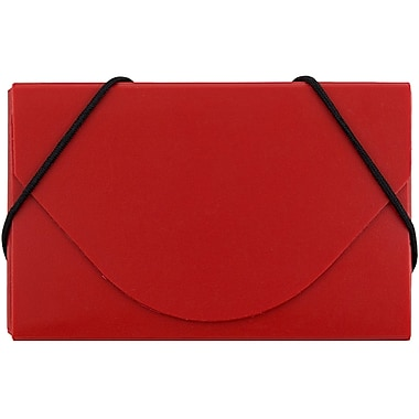 JAM Paper® Plastic Business Card Case, Red, Sold Individually (9167042)