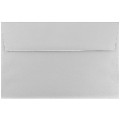 JAM Paper® A9 Invitation Envelopes, 5.75 x 8.75, Stardream Metallic Silver Pearlized, 25/pack (211817120)