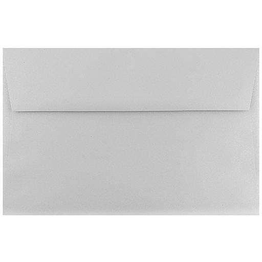 JAM Paper® A9 Metallic Invitation Envelopes, 5.75 x 8.75, Stardream Silver, Bulk 250/Box (211817120H)
