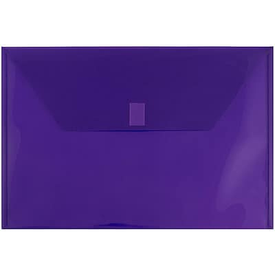 JAM Paper® Plastic Envelopes with Hook & Loop Closure, Legal Booklet, 9.5