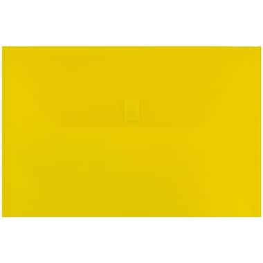 JAM Paper® Plastic Envelopes with VELCRO® Brand Closure, Legal Booklet, 9.75 x 14.5, Yellow Poly, 12/pack (235828262)