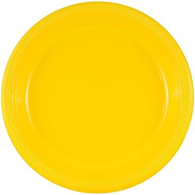 JAM Paper Round Plastic Plates, Medium, 9