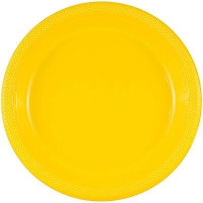 JAM Paper® Round Plastic Plates, Medium, 9 Inch, Yellow, 20/pack (255321941)