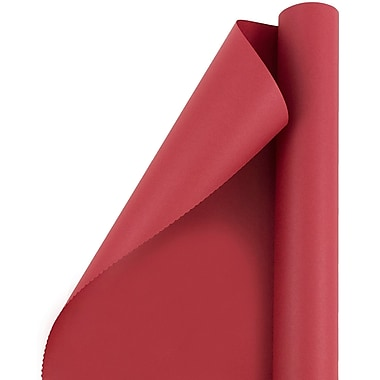 JAM Paper® Gift Wrapping Paper, 25 sq. ft., Matte Red, Sold Individually (277013524)