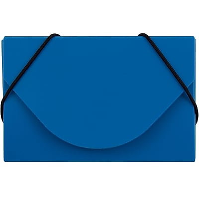 JAM Paper® Plastic Business Card Case, Blue, Sold Individually (291618967)