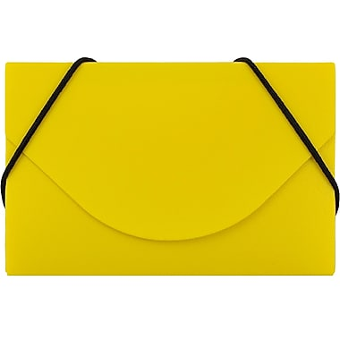 JAM Paper® Plastic Business Card Case, Yellow, Sold Individually (291618971)