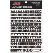 JAM Paper® Self Adhesive Alphabet Letters Stickers, Black, 372/pack (2132817353)