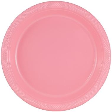 JAM Paper – Assiettes rondes en plastique, petit, 7 po, rose bébé, 200/paquets (7255320670b)