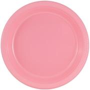JAM Paper® Round Plastic Plates, Medium, 9 Inch, Baby Pink, 20/pack (9255320671)