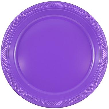 JAM Paper – Assiettes en plastique rondes, moyenne, 9 po, violet, 200/paquet (9255320689b)