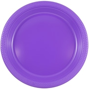 JAM Paper® Round Plastic Plates, Medium, 9 Inch, Purple, 20/pack (9255320689)