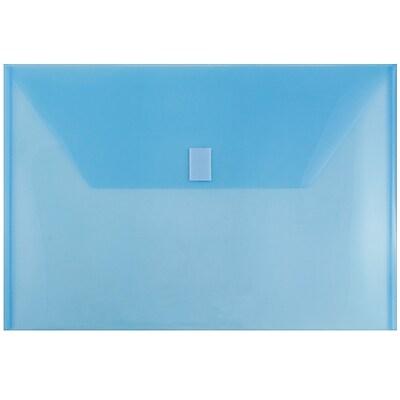 JAM Paper® Plastic Envelopes with Hook & Loop Closure, Legal Booklet, 9.75