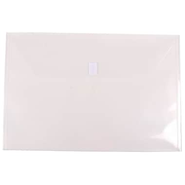 JAM Paper® Plastic Envelopes with VELCRO® Brand Closure, Booklet, Jumbo, 12 x 18, Clear Poly, 12/pack (457V0CL)