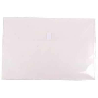 JAM Paper® Plastic Envelopes with Hook & Loop Closure, Booklet, Jumbo, 12