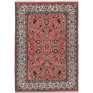 ECARPETGALLERY Royal Kashan Hand-Knotted Red/Beige Area Rug