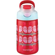 Contigo 72875 14-Ounce AUTOSPOUT Gizmo Flip Kids Bottle (Ruby Owls)