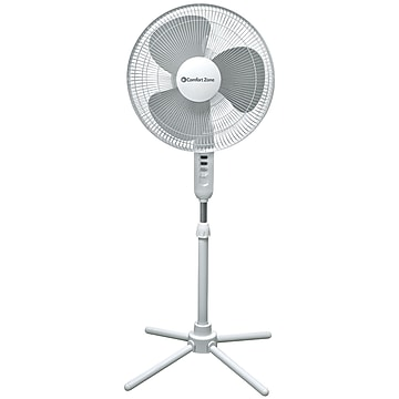 "Comfort Zone CZST161BTE 16"" Oscillating Pedestal quad Pod Fan"