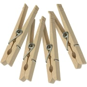 Honey-Can-Do DRY-01375 Wood Clothespins with Spring, 50 pk