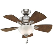 "Hunter 52092 Watson 34"" Ceiling Fan with 5 Blades (Brushed Nickel/Dark Walnut/Cherry)"