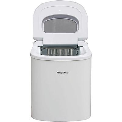 MAGIC CHEF MCIM22W 27lb-Capacity Ice Maker (White)