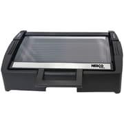 NESCO GRG-1000 1,300-Watt Glass Grill with Glass Lid