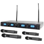 Pyle Pdwm4360u Wireless Microphone System, UFH quad Channel