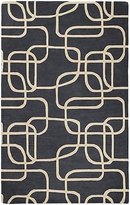 Orren Ellis Carter Ebony Area Rug; 3' x 5'