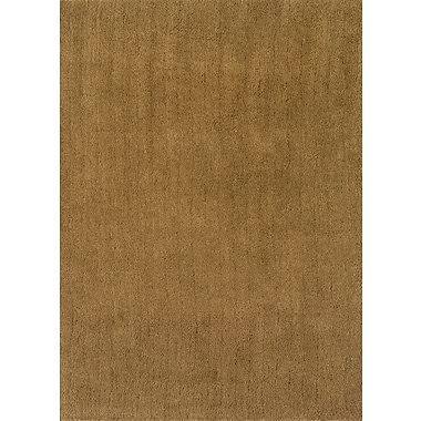 Continental Rug Company Cloud Gold Shag Area Rug; Rectangle 1'9'' x 2'6''