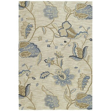 August Grove Allevard Spectacle White Area Rug; 5' x 7'6''