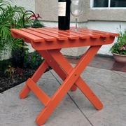 August Grove Makenzie Adirondack Folding Table; Rust