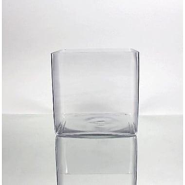 WGVInternational Square Cube Vase; 8'' H x 8'' W x 8'' D