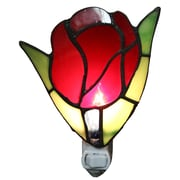 Warehouse of Tiffany Francoise 1-Light Stained Glass Tulip Night Light