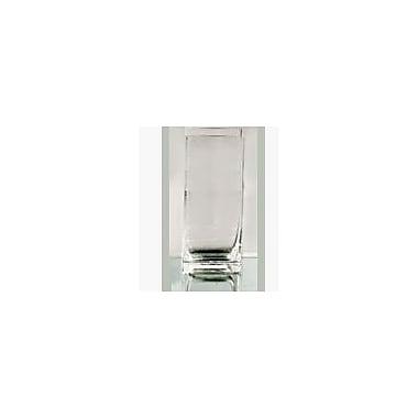 WGVInternational Rectangle Block Glass Vase; 16'' H x 6'' W x 4'' D