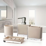 Immanuel Iced 4-Piece Bathroom Accessory Set; Beige