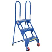 Vestil 3 Step Rolling Ladder w/ Wheels