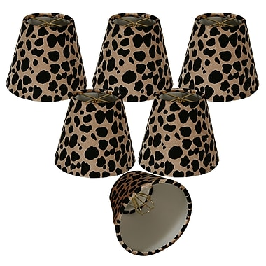 RoyalDesigns 5'' Faux Fur Empire Candelabra Shade (Set of 6)